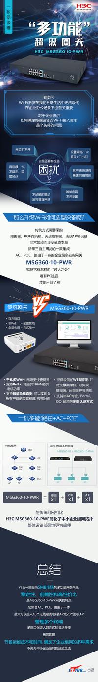 """一张图读懂H3C MSG360-10-PWR""""多功能""""超级网关"""